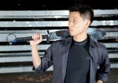 Glenn Chow with martial arts sword
