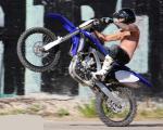 Matthew Lucky Clarke motorbike