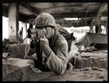 Phil Partridge in battle scene